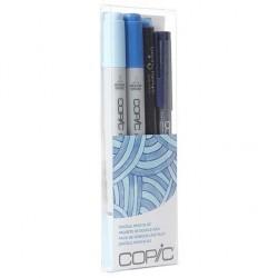 COPIC CIAO DOODLE PACKS: BLUE (4 LÁPICES)