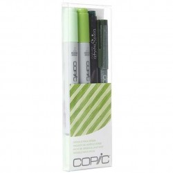 COPIC CIAO DOODLE PACKS: GREEN (4 LÁPICES)