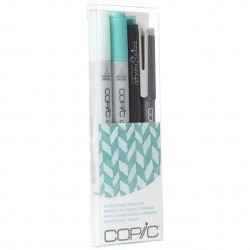 COPIC CIAO DOODLE PACKS: TURQUOISE (4 LÁPICES)
