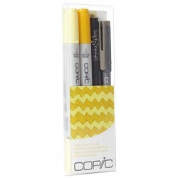 COPIC CIAO DOODLE PACKS: YELLOW (4 LÁPICES)